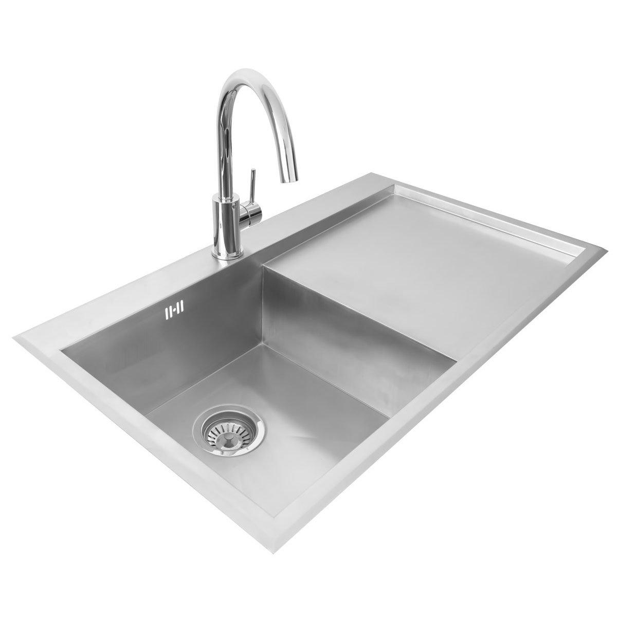 Valle Richmond 860x510mm Right Hand Single Bowl Compact Kitchen Sink