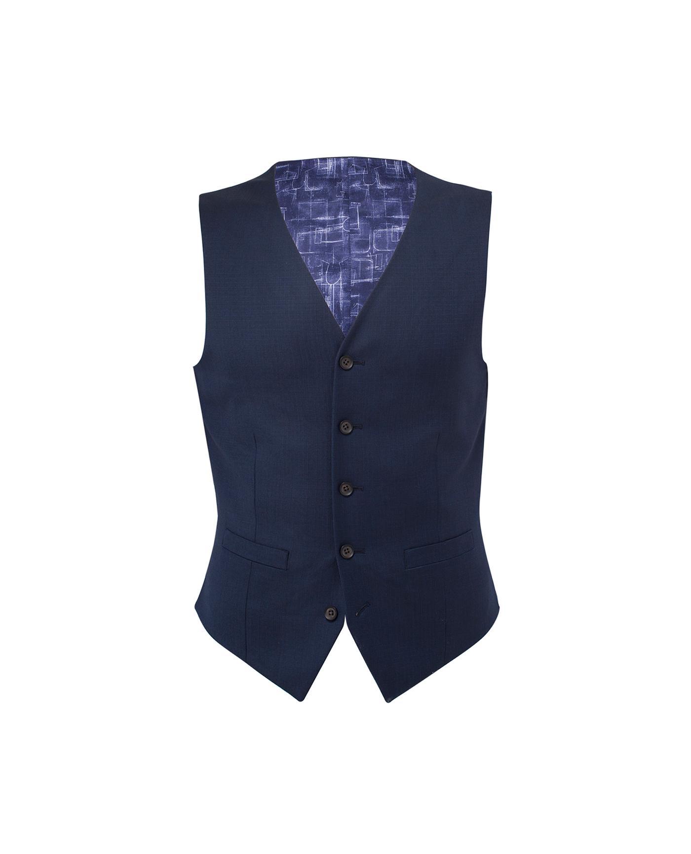 4121735522b9 T.M.Lewin Maxwell Textured Navy/Blue Modern/Slim Fit Italian Infinity …