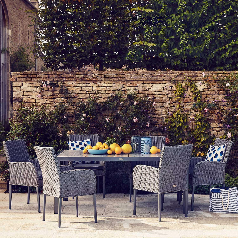 Atlanta 6 seater rattan garden furniture set