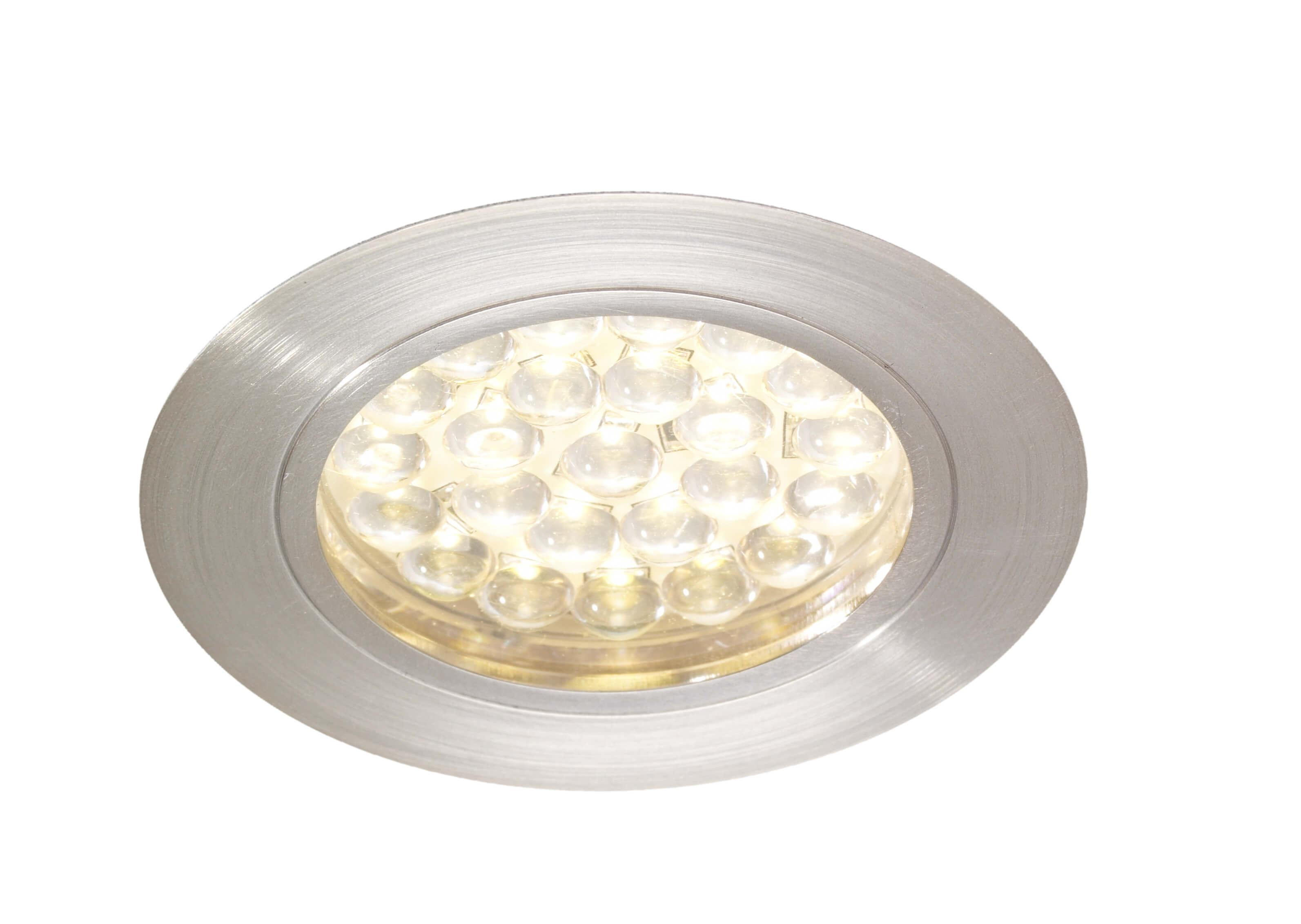 Recessed 1.8w LED Under Cabinet Light   Cool White Or Warm White LED
