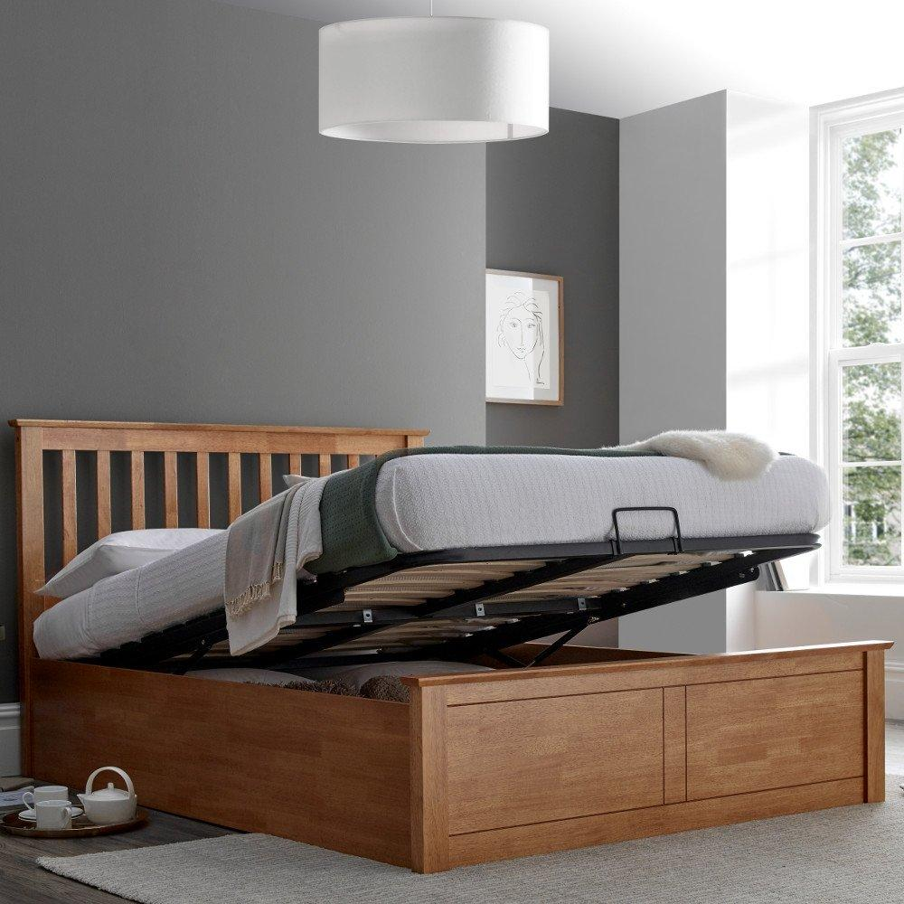 Super Malmo Oak Wooden Ottoman Bed Frame 4Ft6 Double Reviews Beatyapartments Chair Design Images Beatyapartmentscom