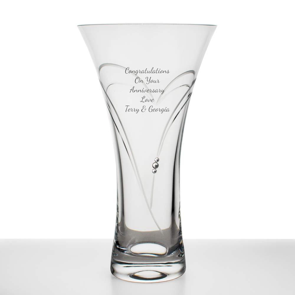 edd58b71da Personalised Crystal Heart Vase With Swarovski Elements Reviews ...