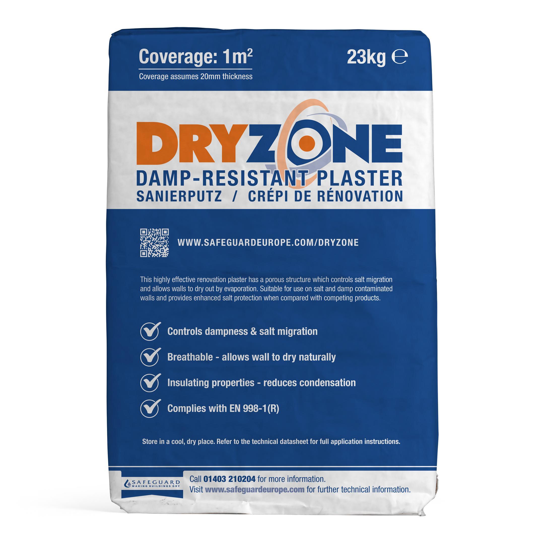 Dryzone Damp-Resistant Plaster (23 kg) Reviews   Safeguard
