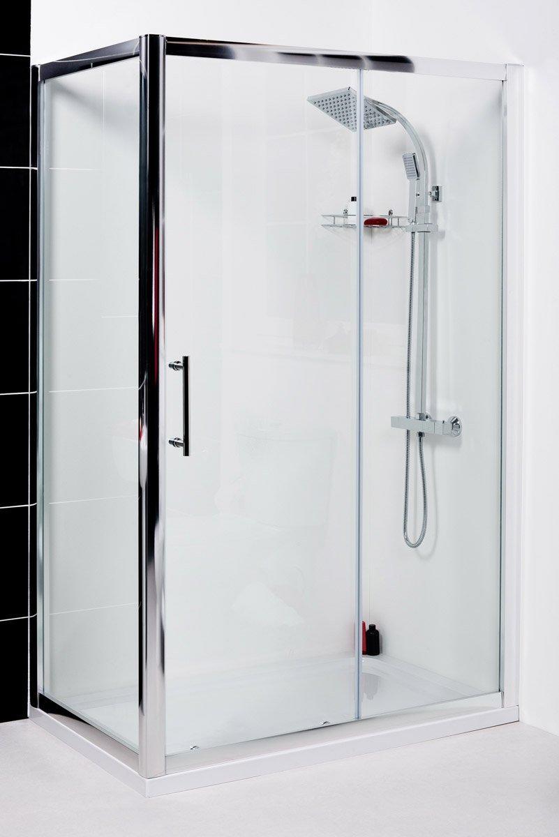 Aquariss 1000 x 760mm Sliding Door Shower Enclosure with Easy Clean ...