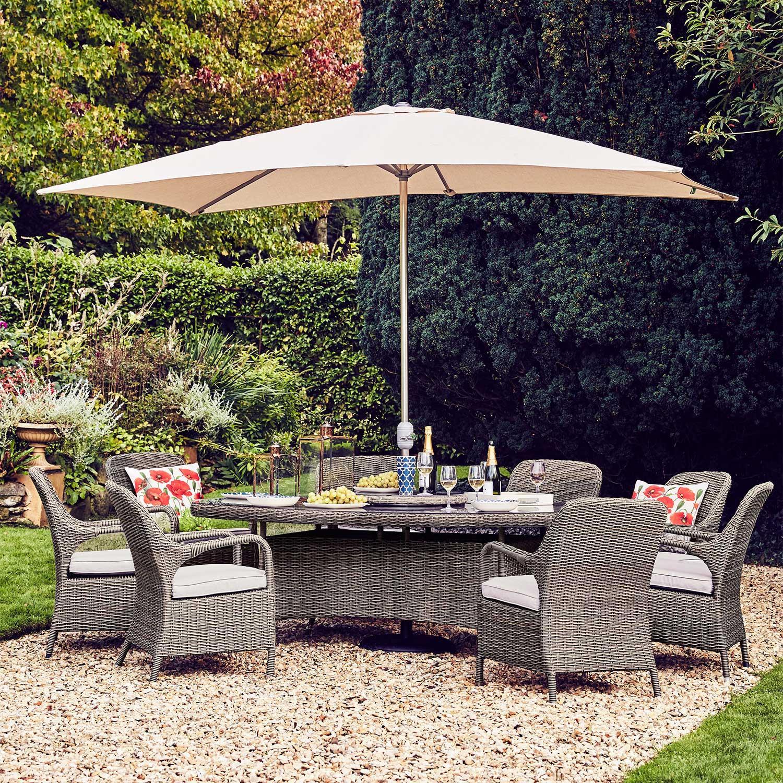 Moreton 8 seater rattan garden furniture set