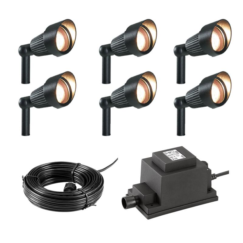 Techmar Plug And Play   Focus Garden Spotlight Kit   6 Lights