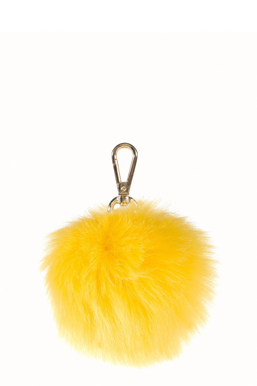 be581ab98d Large Faux Fur Pom -Yellow Reviews