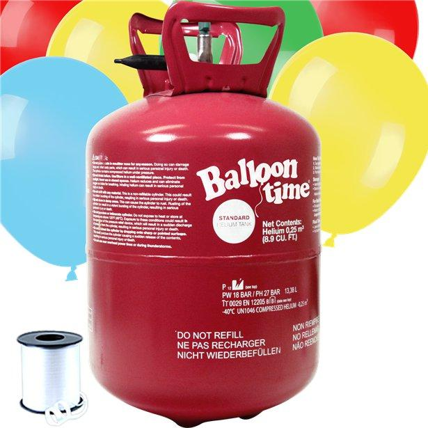 Helium Canister with 30 Balloons & Ribbon Reviews | Party