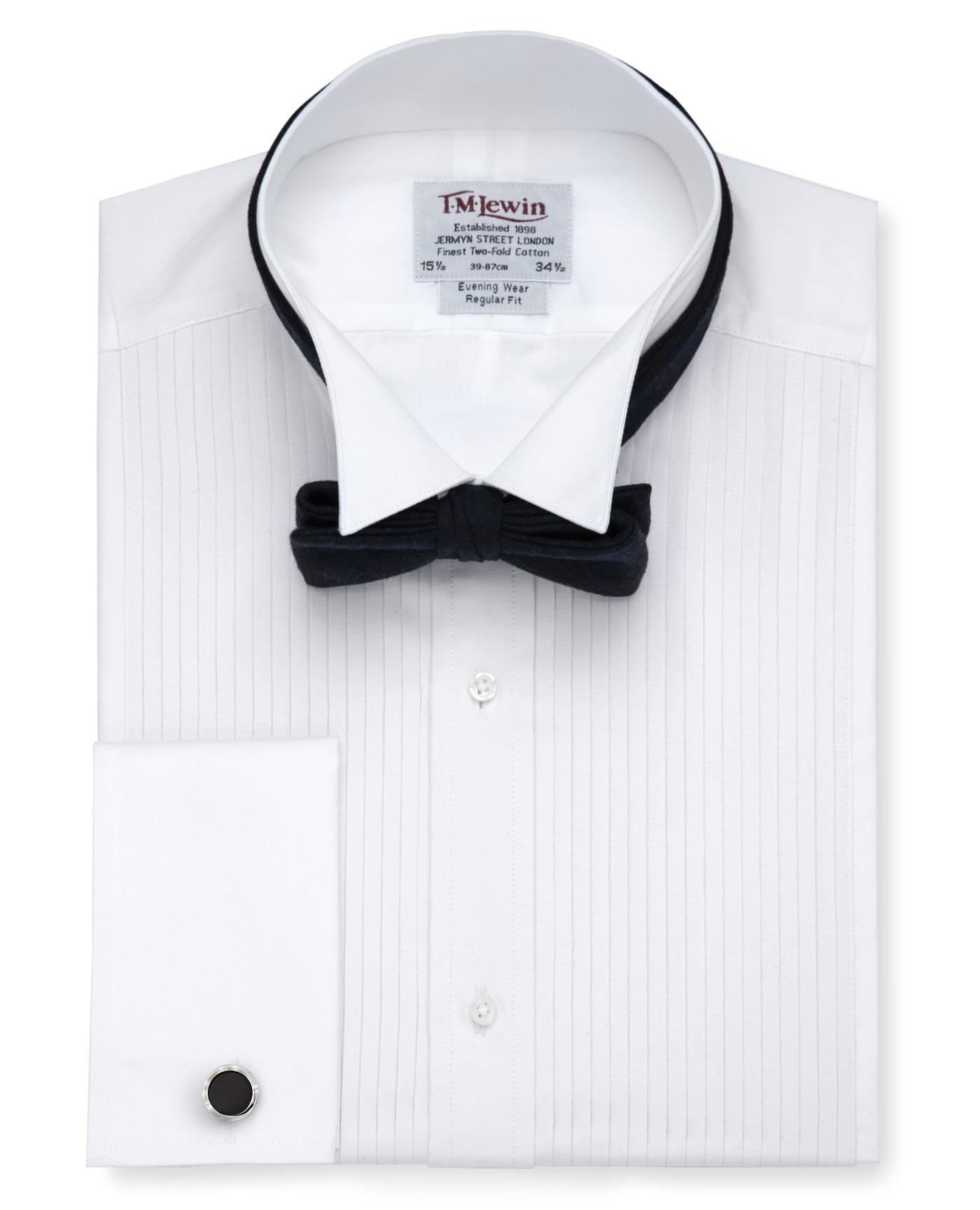Pleated Wing Collar Regular Fit Evening Dress Shirt Reviews Tm