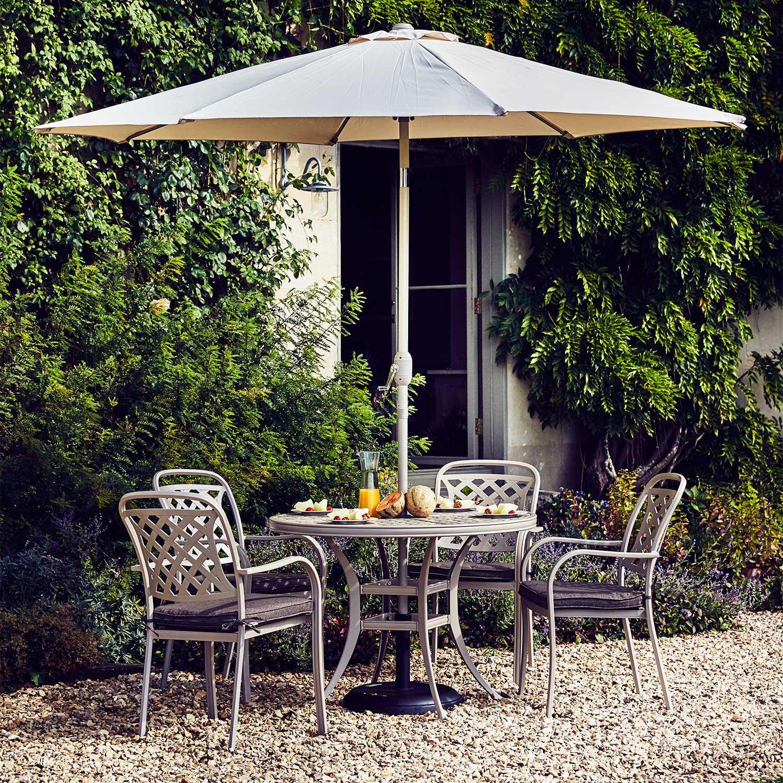 Stratford 4 seater metal garden furniture set