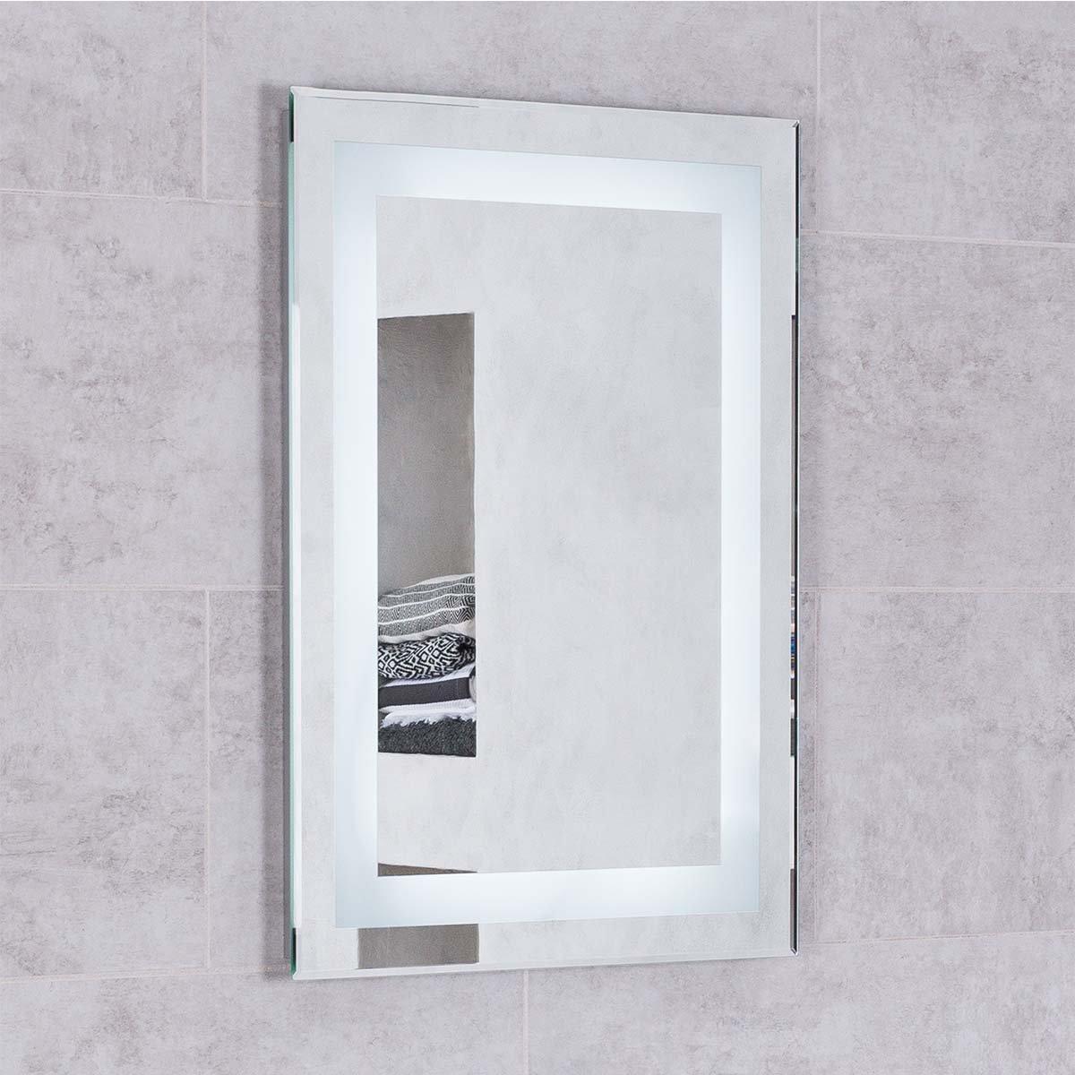 Blanc 800 x 600mm Illuminated LED Mirror with Demister & Shaver ...