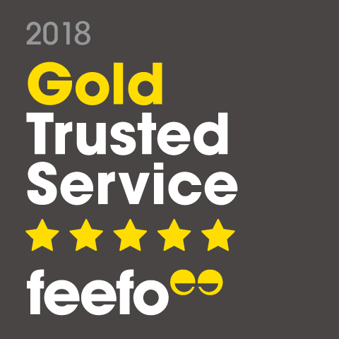 Feefo Gold Trust badge 2018