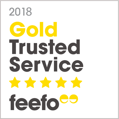 Feefo Gold Trust badge